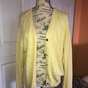 Large yellow Izod cardigan